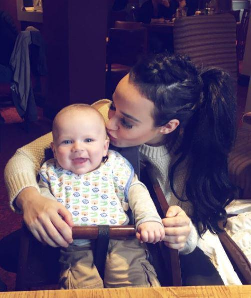 When was Stephanie Davis and Jeremy McConnell's baby Caben-Albi George born?