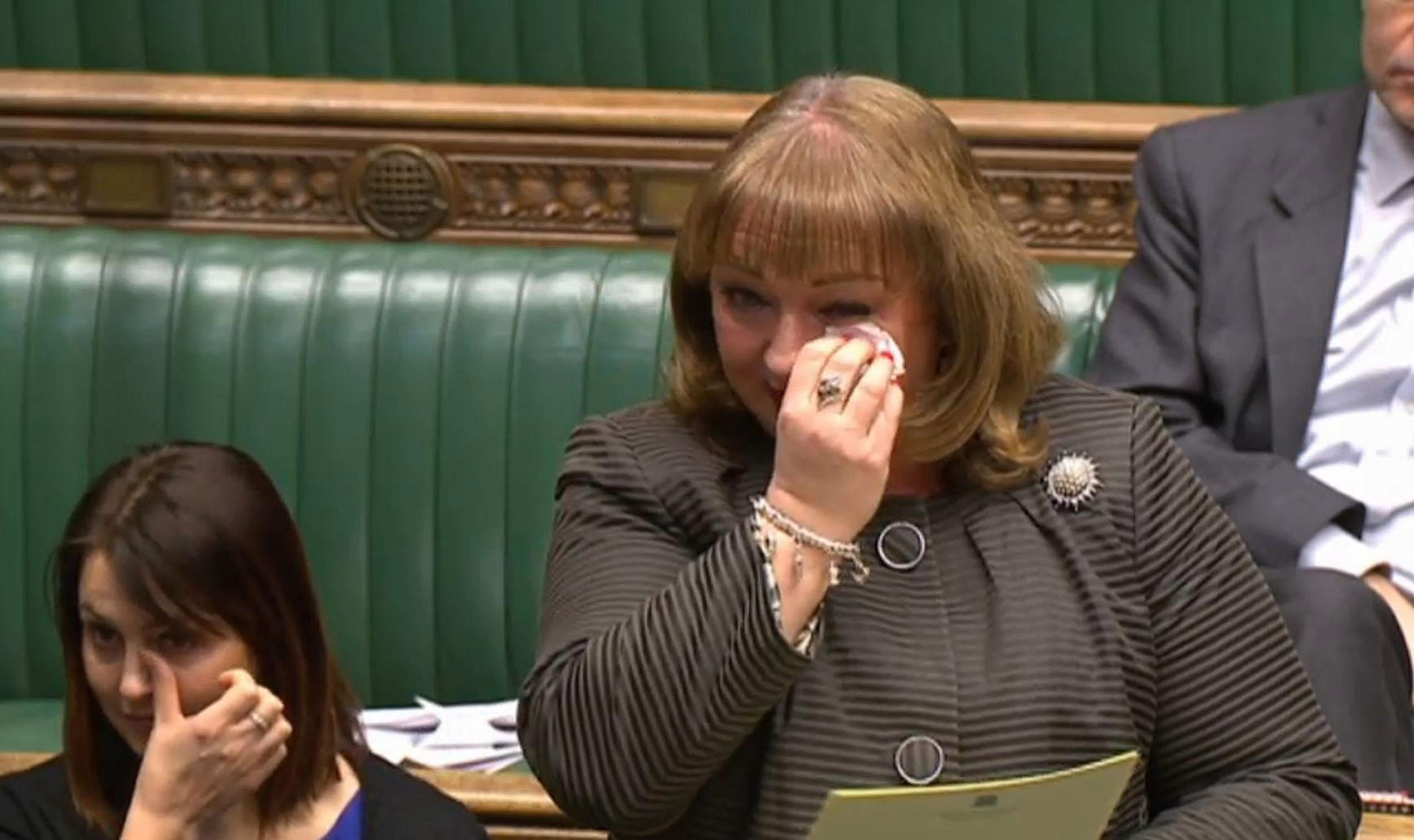 Labour MP Sharon Hodgson brings the House of Commons to tears as she breaks down during emotional speech about her stillborn child