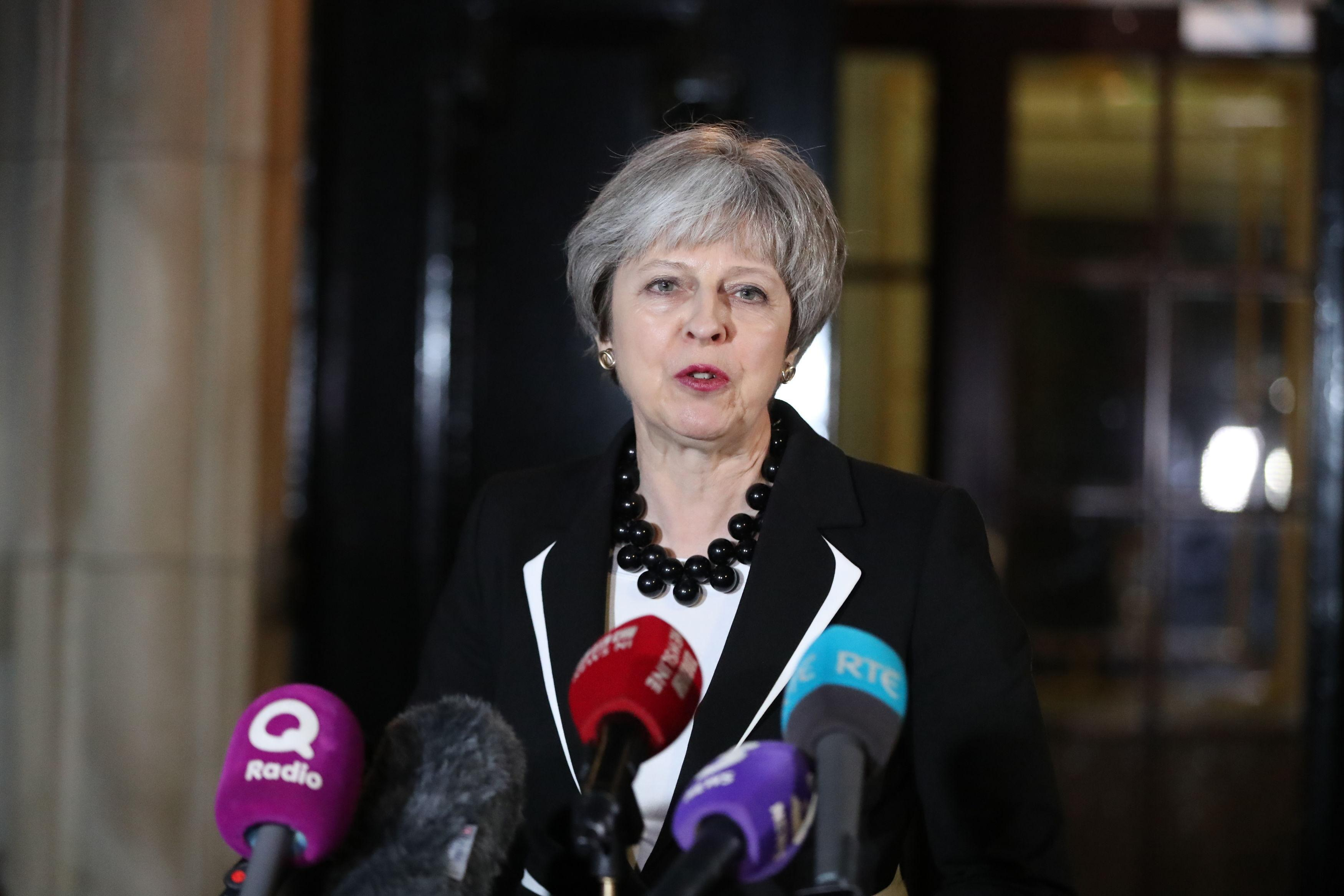 Theresa May urges Northern Ireland's feuding parties to make 'final push' to restore power-sharing government after she failed to broker a deal