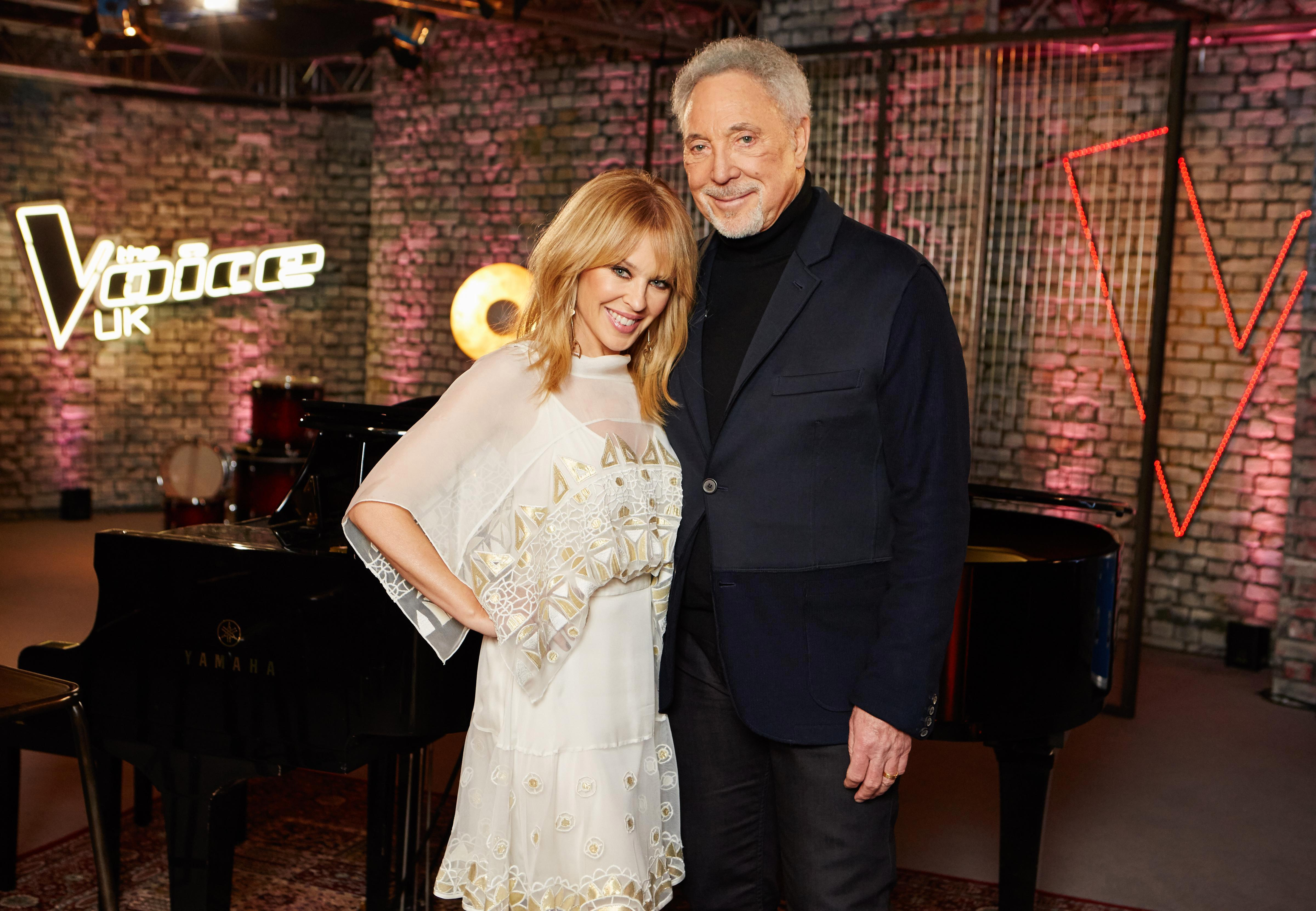 Kylie Minogue returns to The Voice for the first time in four years to help mentor Sir Tom Jones' team