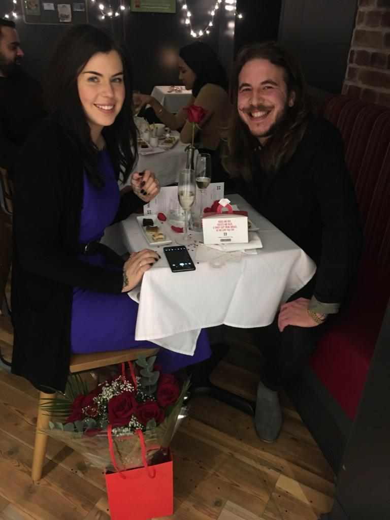 Romeo proposes to his girlfriend in Greggs – and she says yes