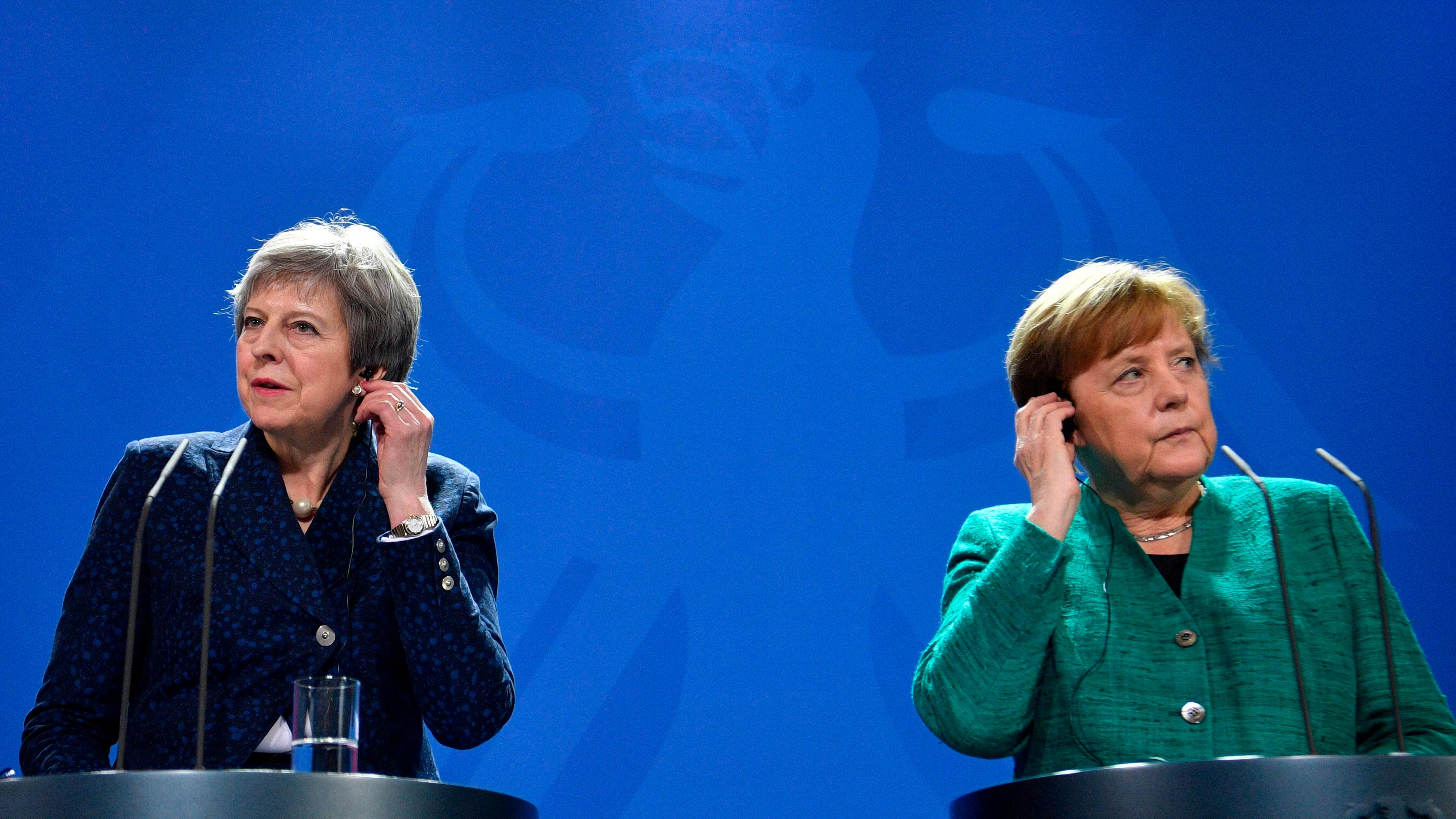 Angela Merkel insists she isn't 'frustrated' at Theresa May's lack of Brexit clarity