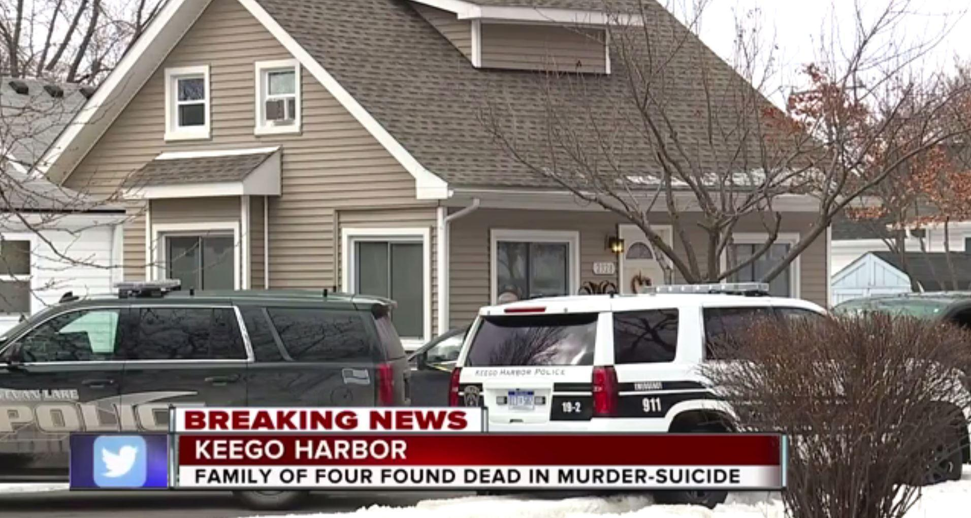Mum shot her husband and two grown-up kids dead before turning gun on herself, say cops