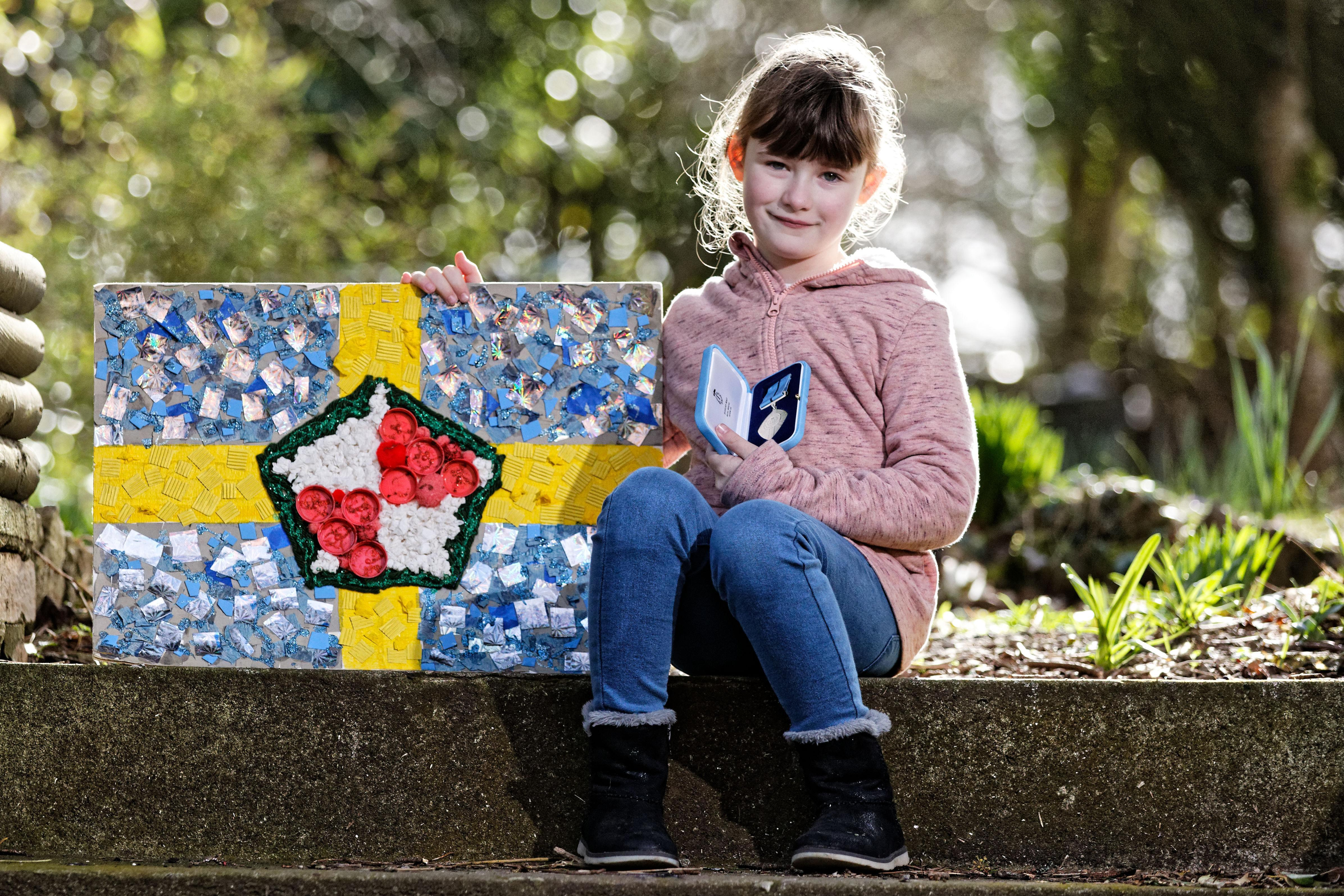 Girl, 7, raises a record £150,000 for Withybush Hospital in Wales that treated her dad's cancer