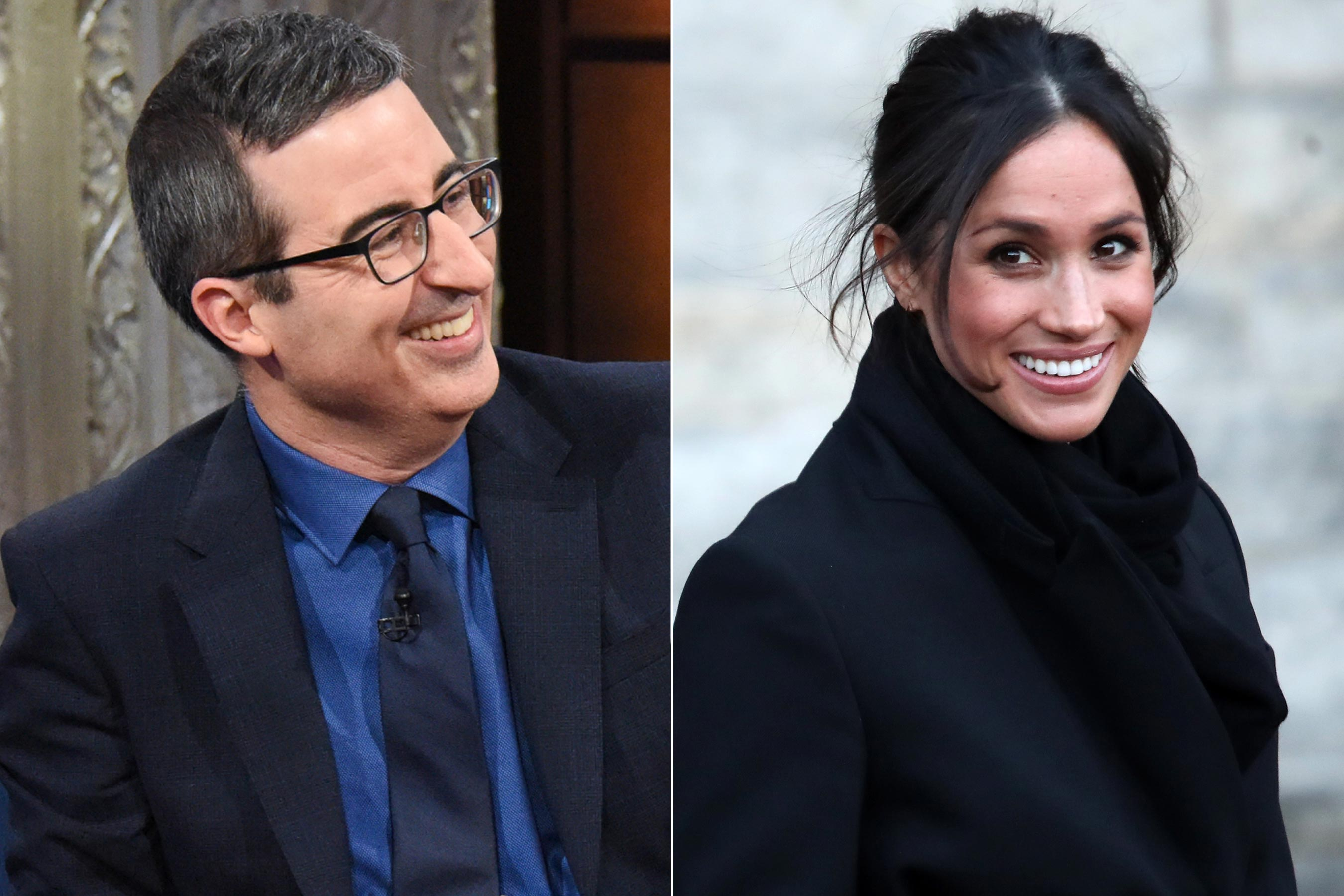 Meghan Markle: John Oliver warns Prince Harry's fiancée about royals