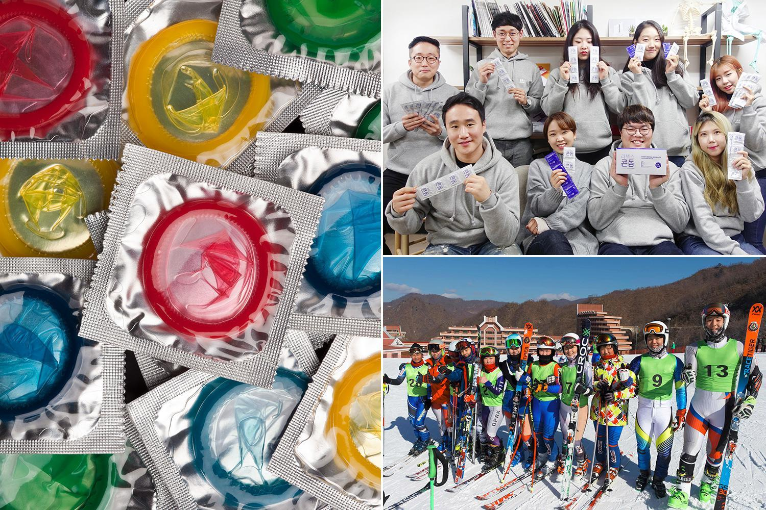 Winter Olympics: Record smashed already Winter Olympics in South Korea with 110,000 free condoms handed to horny athletes