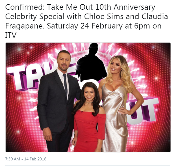 Paddy McGuinness returns to TV after 'scandal' with Towie's Chloe Sims on Take Me Out 10th anniversary special episode