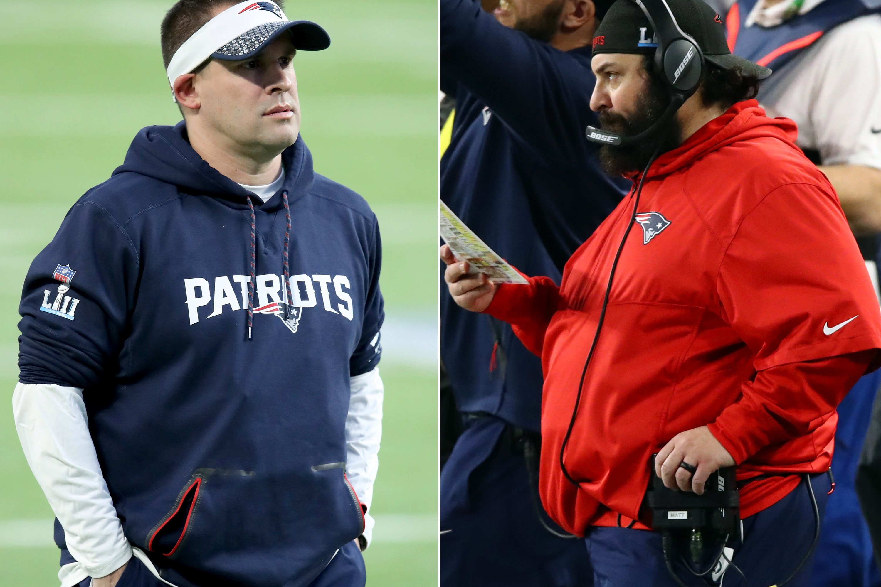 Patriots assistants were in no mood to talk about their futures