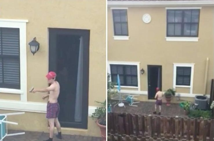 Florida shooter filmed doing target practice in backyard by neighbour 'months before' gunning down 17 people