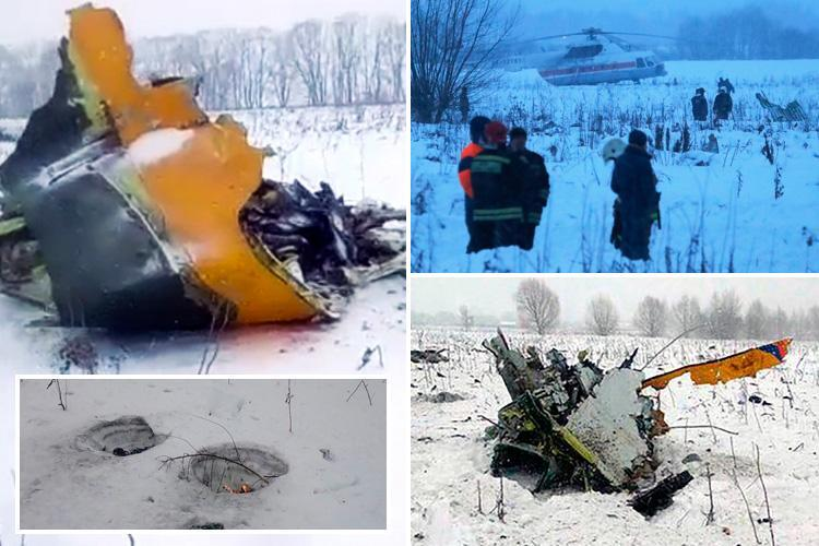 Russian plane crash near Moscow kills all 71 on board as witnesses describe 'huge mushroom cloud explosion'