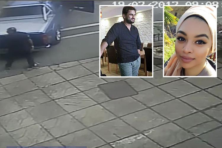 Chilling moment 'psycho' uncle drives off with kidnap victims in the boot before he raped and murdered his niece