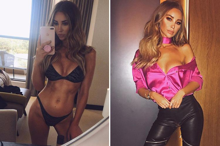 Lauren Pope sizzles in a black bikini as she shares selfie from Dubai holiday