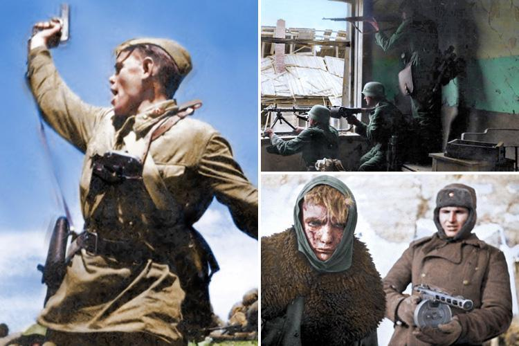 Incredible colourised snaps of the Battle of Stalingrad show the brutal reality of life on the frontline during the bloodiest battle in human history