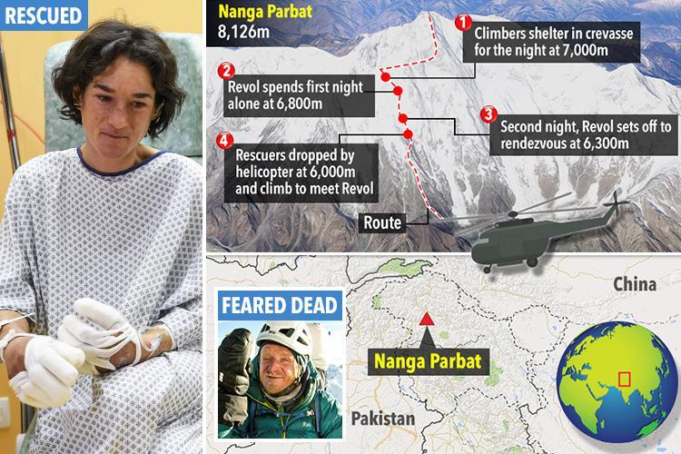 French climber relives agonising decision to leave dying partner on Himalayan 'killer mountain' after he went blind and suffered crippling frostbite