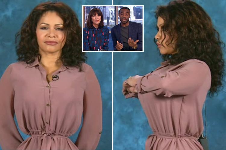 Davina McCall and Ore Oduba left gobsmacked as they interview woman with 18 inch waist who wears a corset 23 hours a day as they present This Morning for first time