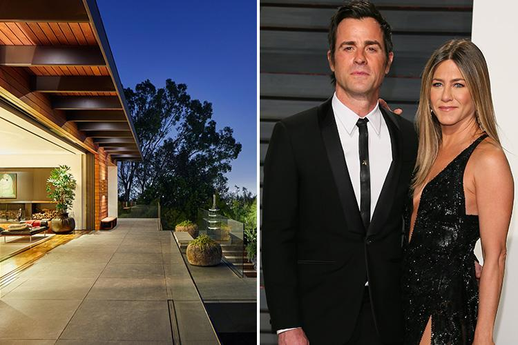 Jennifer Aniston 'is selling £15m house where she married Justin Theroux' claim US reports