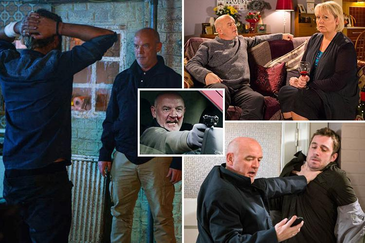 Coronation Street villain Pat Phelan's reign of terror set to come to an end after he is pushed off a cliff by his wife