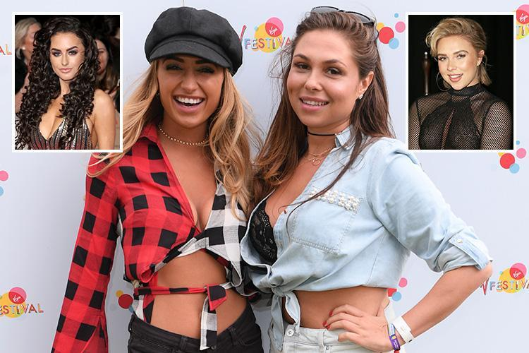 Georgia Harrison takes on Love Island rivals Amber Davies and Gabby Allen as she launches her own fitness app with Towie BFF Fran Parman