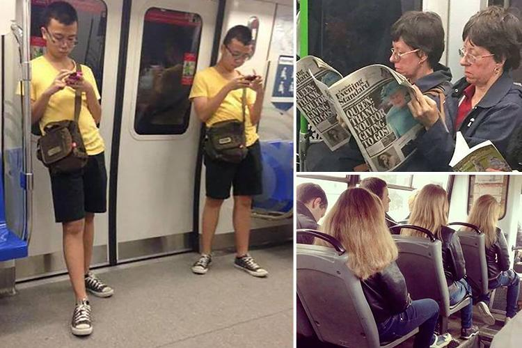Bizarre pics showing accidental twins on public transport will blow your mind and make you look twice