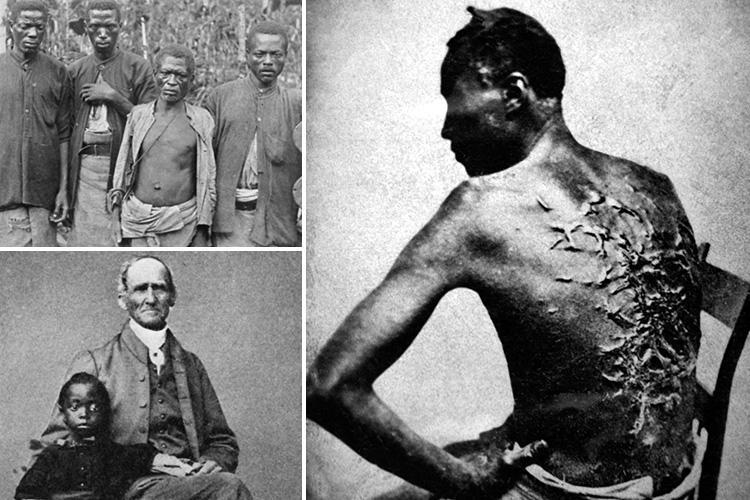 Brutal reality of slavery in America revealed in shocking pics dating back to the late 1700s as US marks 153rd anniversary of abolition