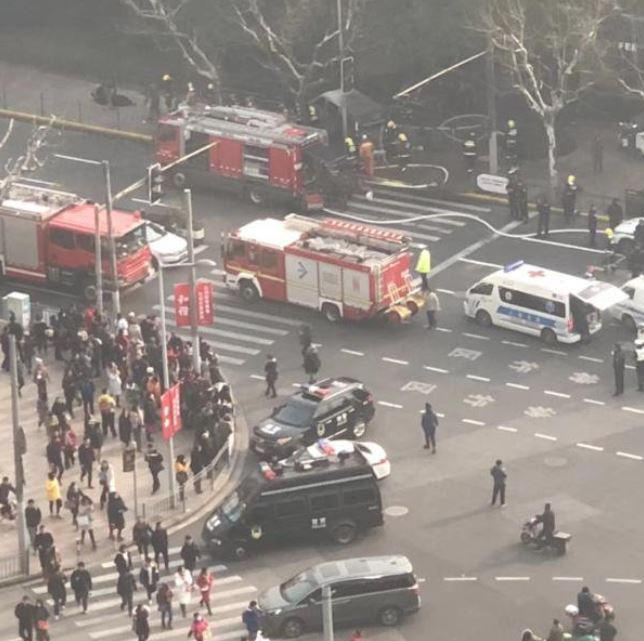 Shanghai van incident – brown minivan slams into group of pedestrians in Shanghai injuring 18