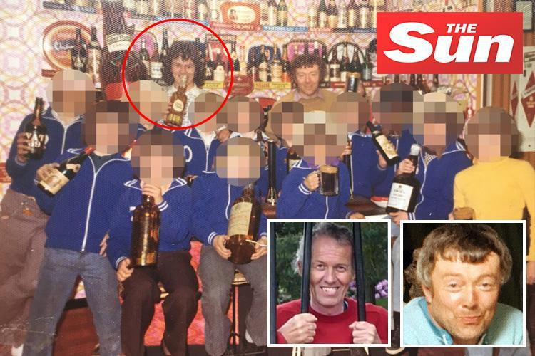 Barry Bennell pictured for the first time with fellow footie paedo Frank Roper and a team of kids