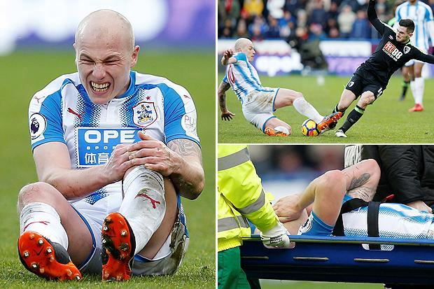 Huddersfield Town's Premier League survival hopes potentially suffer huge blow as Aaron Mooy is stretchered off