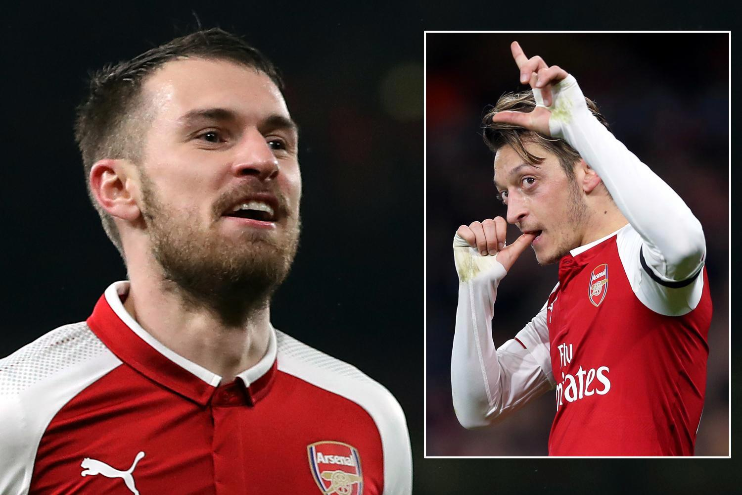 Arsenal face tough talks with Aaron Ramsey over new contract after Mesut Ozil's new £350,000-a-week deal