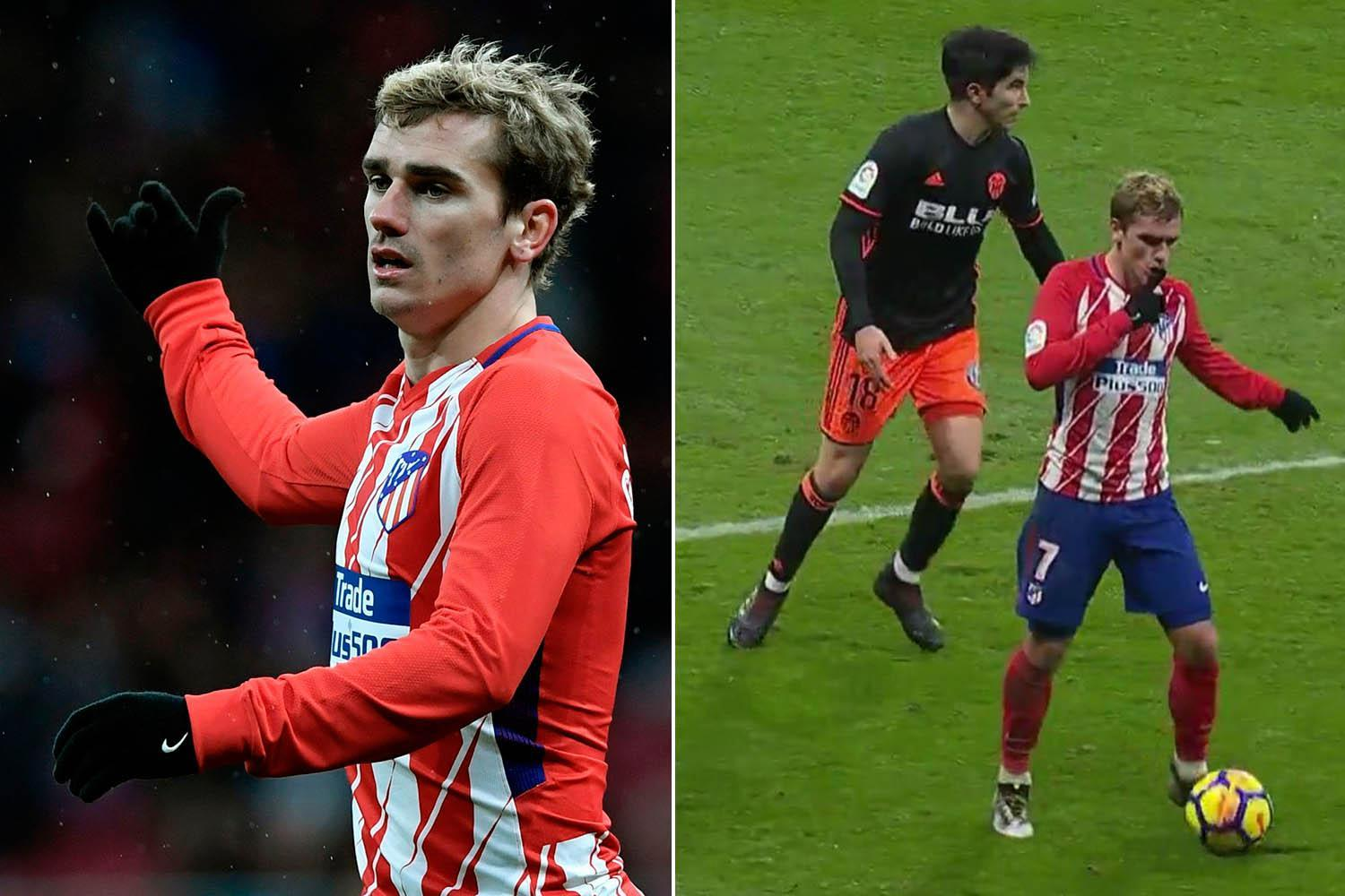 Antoine Griezmann rows with Atletico Madrid fans and tells them to 'shut up' during Valencia clash