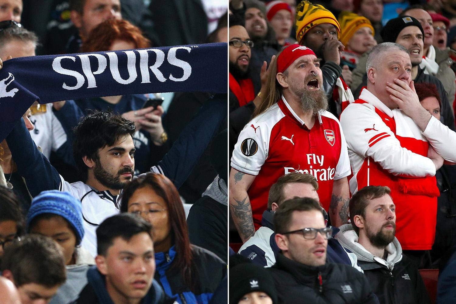 Arsenal the most loyal Premier League fans in the Champions League… while Tottenham supporters come in dead-last