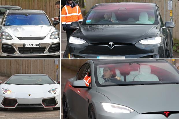 Arsenal's cars: Petr Cech and Hector Bellerin drive eco-friendly Tesla's while other Gunners stars prefer gas guzzling Ferraris and Porsches