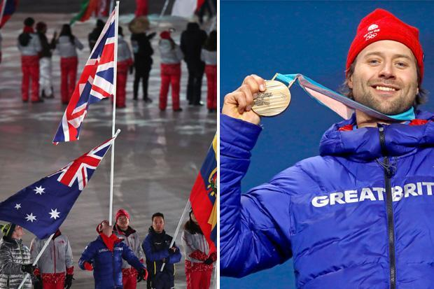 Winter Olympics 2018: Billy Morgan rounds off Team GB's Olympic joy by passing out at a celebration party – then carrying the Union flag at the closing ceremony