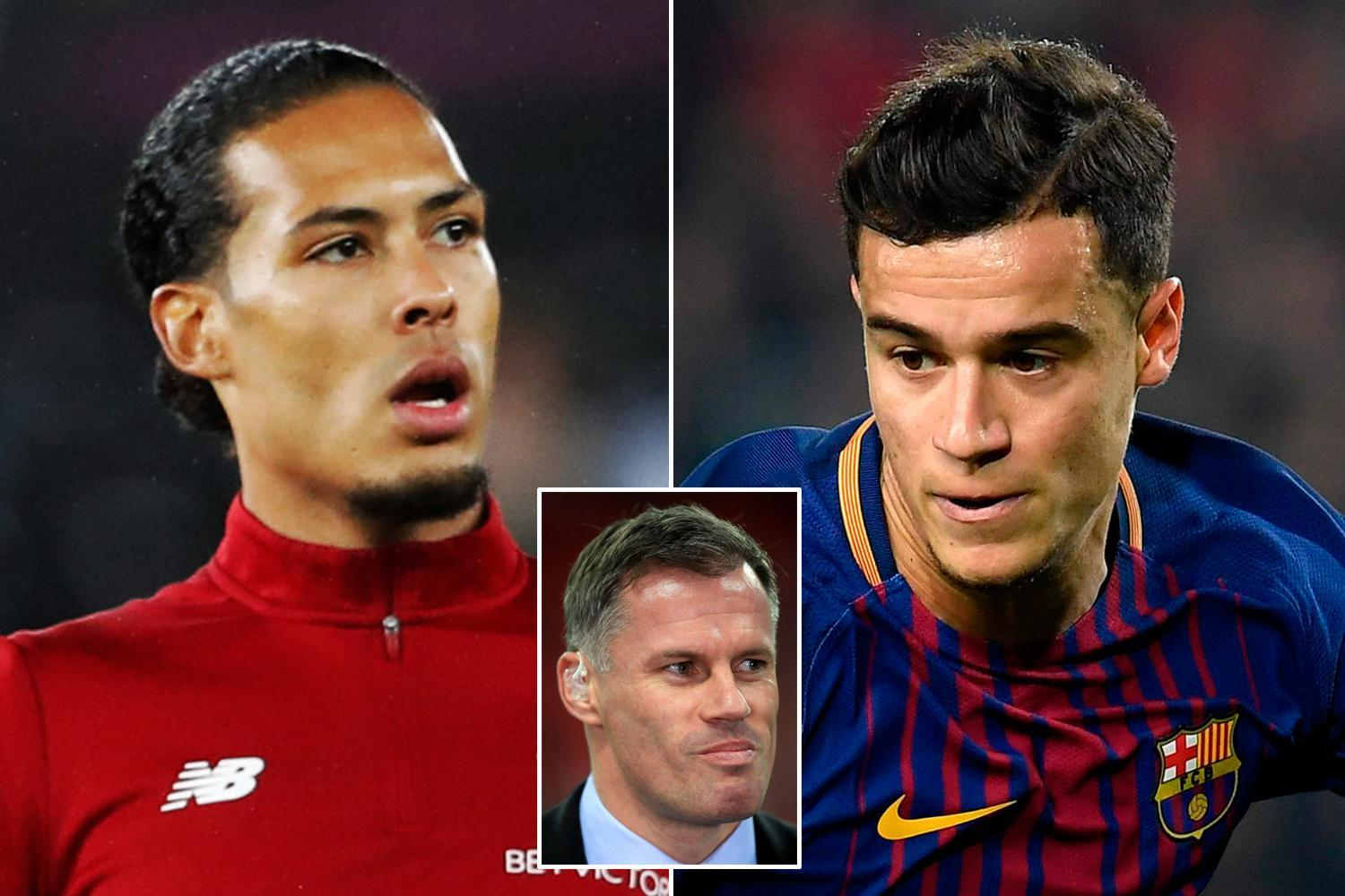 Jamie Carragher says Virgil van Dijk needs to lose weight and is not impressed with Liverpool's January dealings
