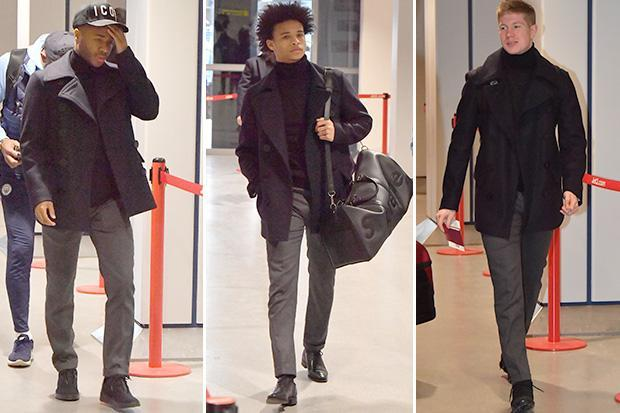 Manchester City star Leroy Sane flies out with team-mates to Basel for Champions League clash as he returns to training after horror ankle injury
