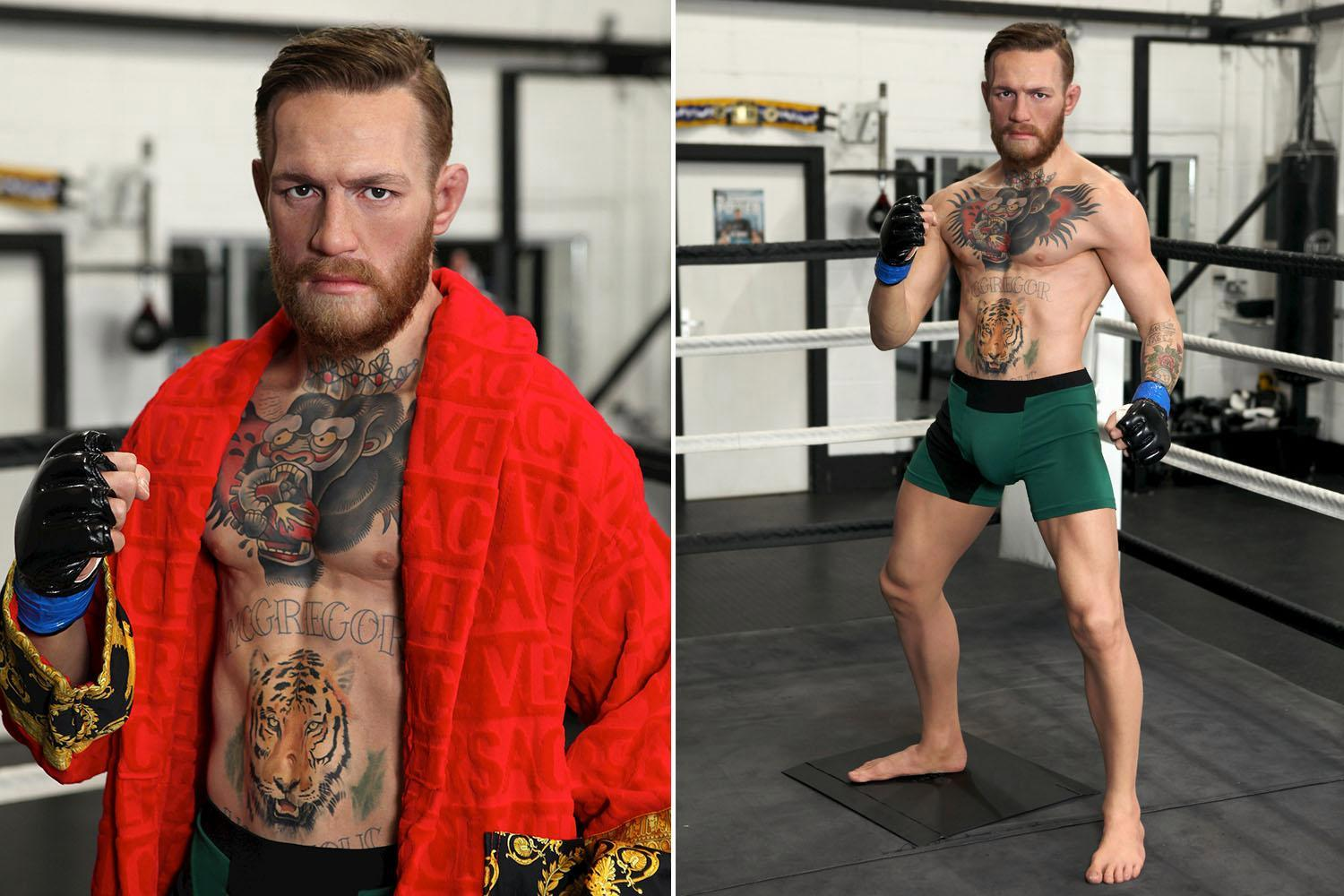 Conor McGregor has Madame Tussauds waxwork unveiled as Irish UFC legend eyes Floyd Mayweather rematch in the octagon
