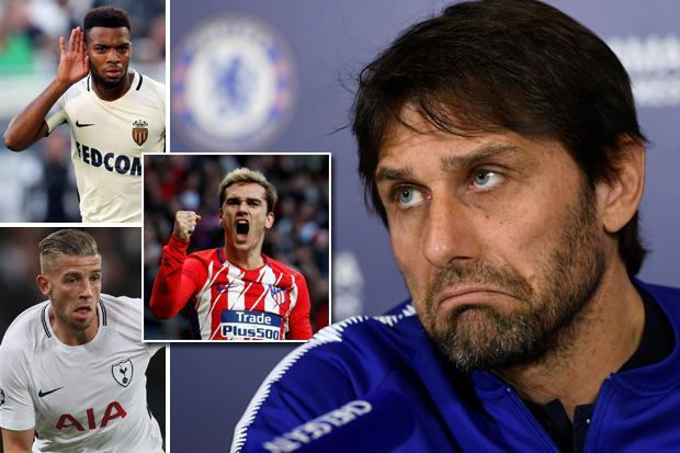 Antonio Conte claims Chelsea need to spend £250million on three world-class players to return to the top