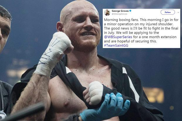 George Groves has shoulder operation and will apply to have World Boxing Super Series final against Callum Smith put back to July