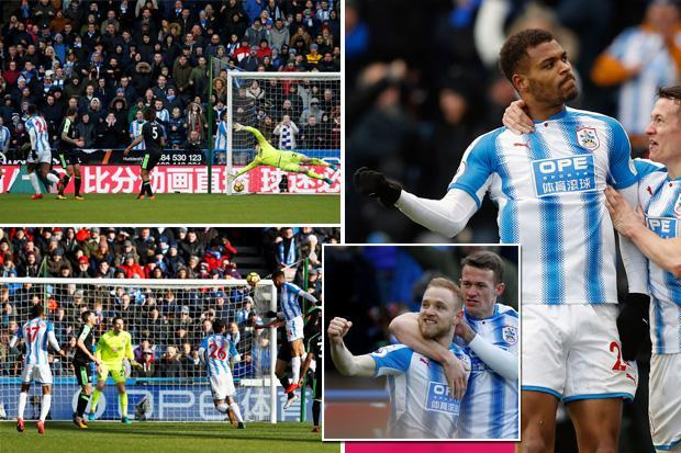 Huddersfield 4 Bournemouth 1: Steve Mounie scores clinical double in riveting encounter at the John Smith's Stadium as hosts escape the relegation zone