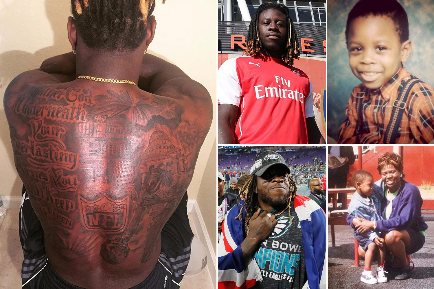 Jay Ajayi: Tattoos, Arsenal and his own 'yurp' brand – the NFL star is the most famous British sportsman you've never heard of after winning the Super Bowl with the Philadelphia Eagles