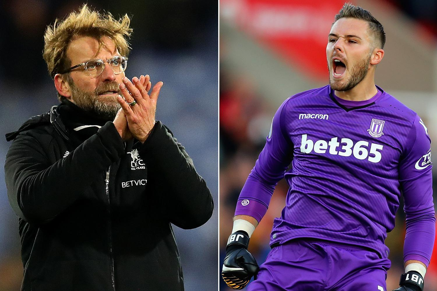 Liverpool transfer news: Jurgen Klopp wants £40million Stoke goalkeeper Jack Butland but faces competition from Arsenal