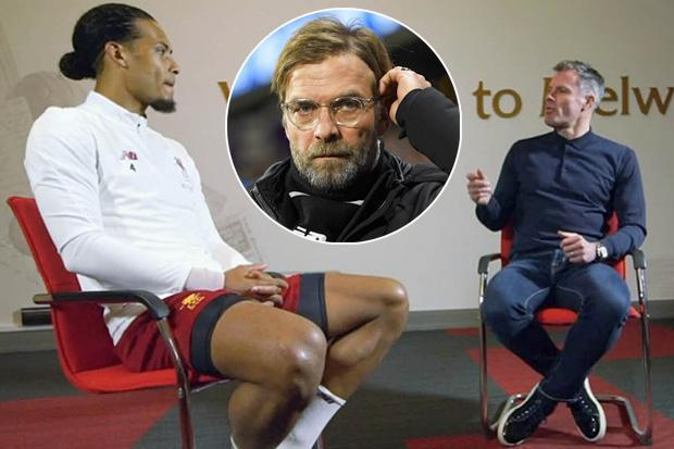 Liverpool boss Jurgen Klopp defends Virgil van Dijk and tells Jamie Carragher to 'lose some weight instead'