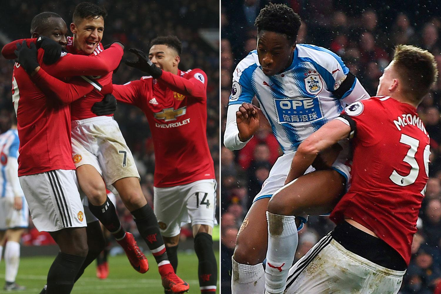Man United 2 Huddersfield 0: Alexis Sanchez scores his first goal for Red Devils as Huddersfield's relegation fears increase