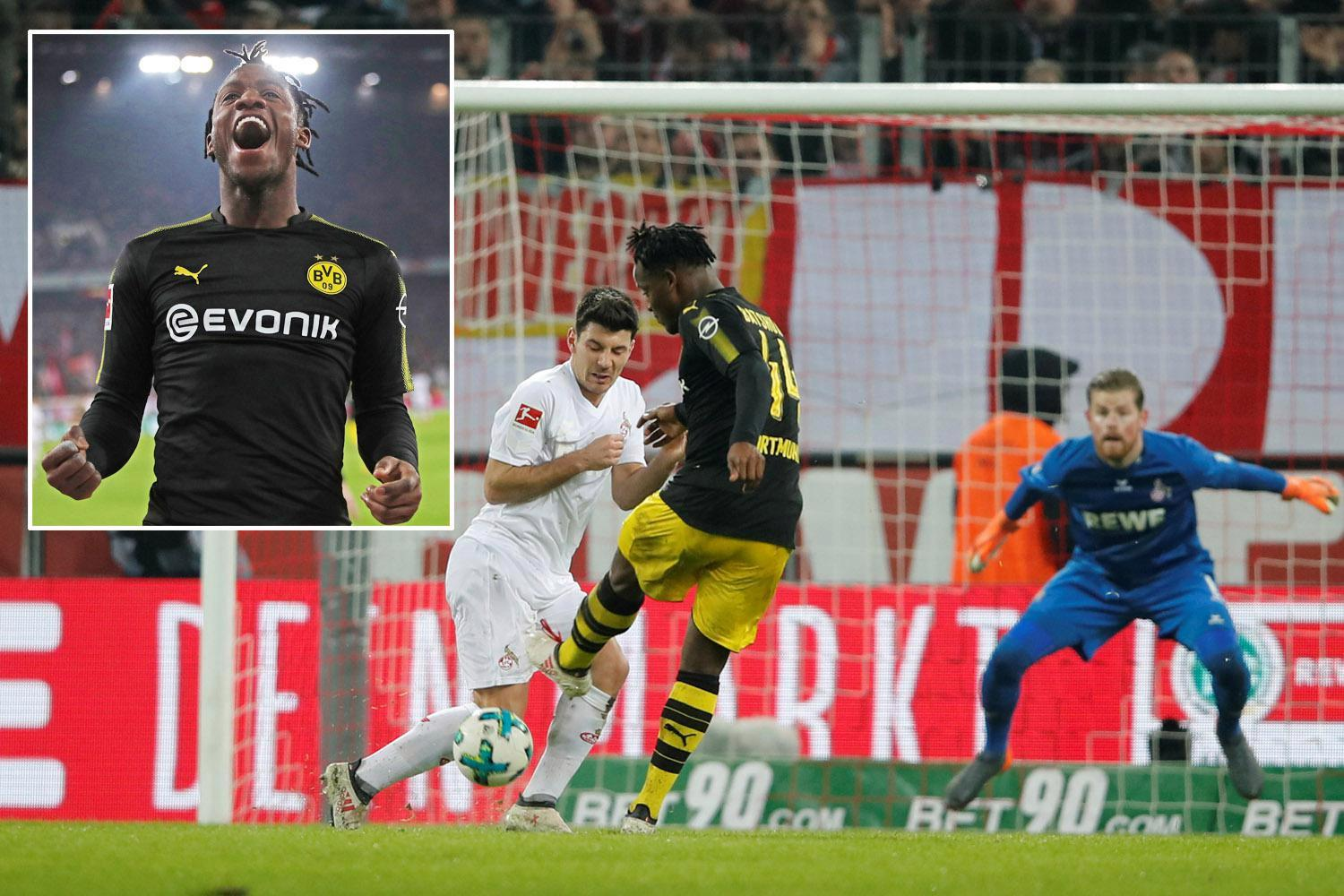 Michy Batshuayi involved in as many goals on his Bundesliga debut for Borussia Dortmund, as in 12 Premier League games for Chelsea