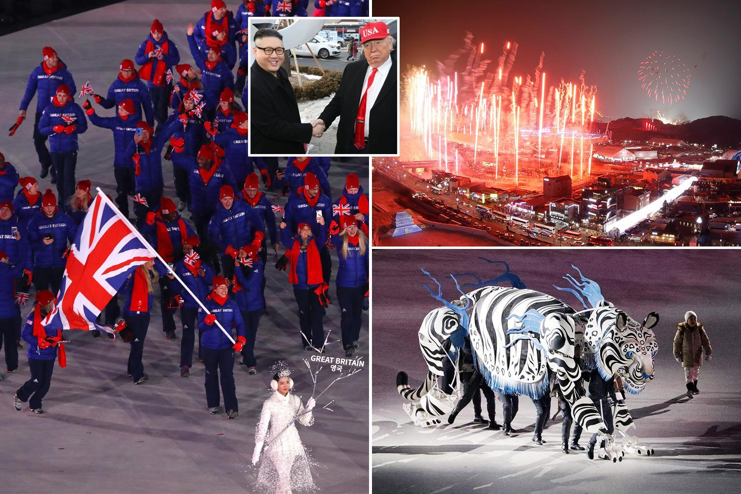 Winter Olympics 2018 opening ceremony gets under way with show of Korean unity in Pyeongchang
