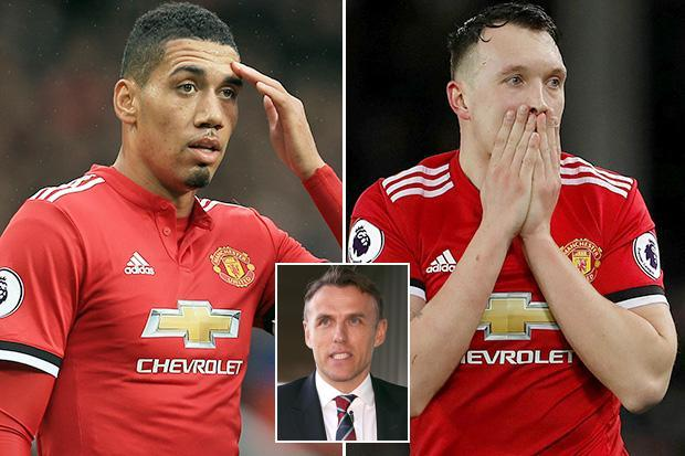 Manchester United duo Chris Smalling and Phil Jones branded 'disaster' by Phil Neville