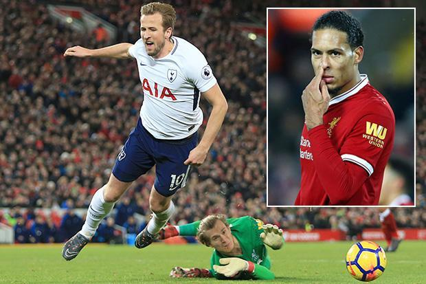"Tottenham striker Harry Kane accused of ""diving"" by Liverpool defender Virgil van Dijk"