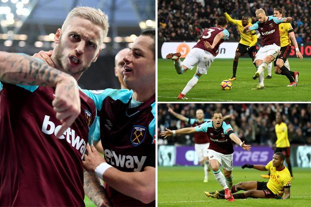 West Ham 2 Watford 0: Javier Hernandez and Marco Arnautovic grab crucial goals for Hammers at London Stadium