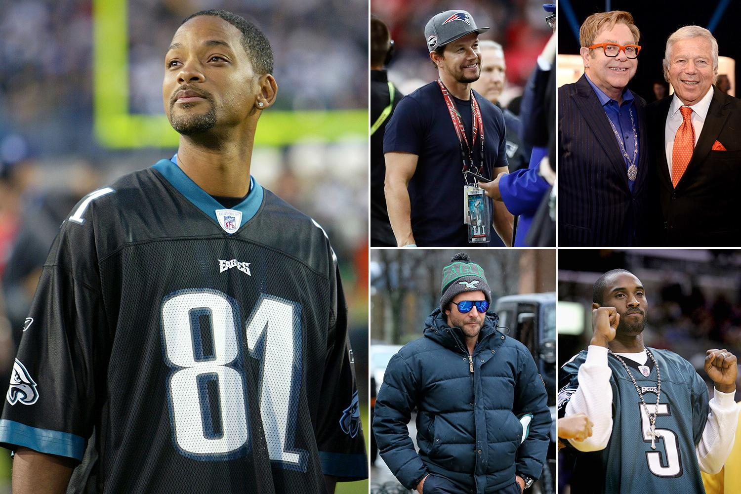 Super Bowl 2018: Will Smith, Mark Wahlberg and Elton John among Philadelphia Eagles and New England Patriots celebrity fans