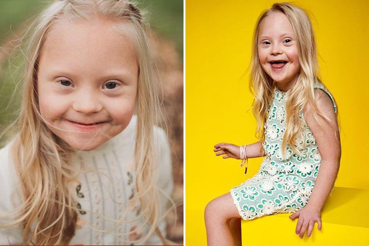 Meet the 'cheeky' six-year-old girl with Down's Syndrome who's landed top fashion campaign – and her parents are 'so proud'