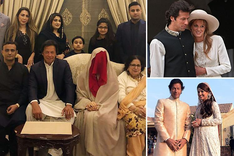 Cricket playboy Imran Khan marries burka clad Islamic 'spiritual adviser' after two previous marriages to glam British women